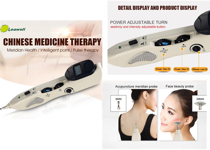 Low Frequency Electronic Acupuncture Pen With 3 Replaceable Probes 1-10 Intensity